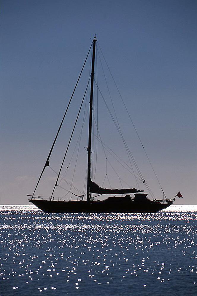 Antigua Yacht Silhouette
