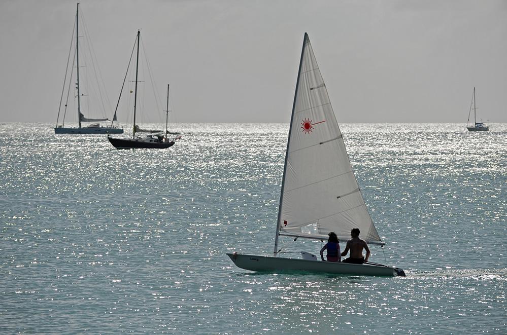 Grenada Laser Sailing in Prickly Bay