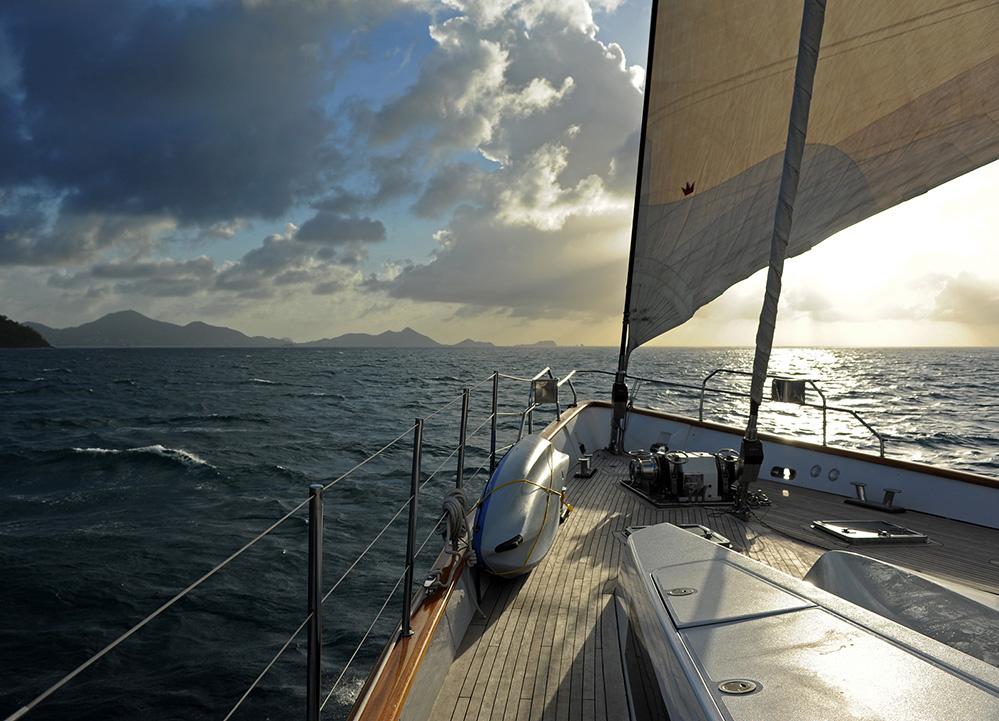 Grenada Yacht Approaching Carriacou