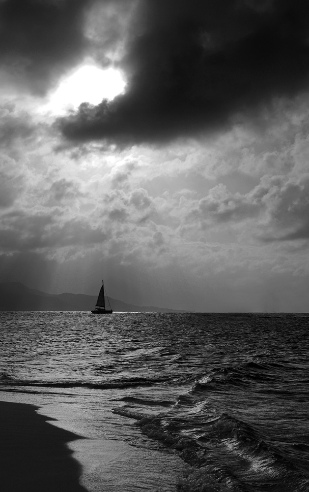Grenada Yacht in Storm Light off Carriacou