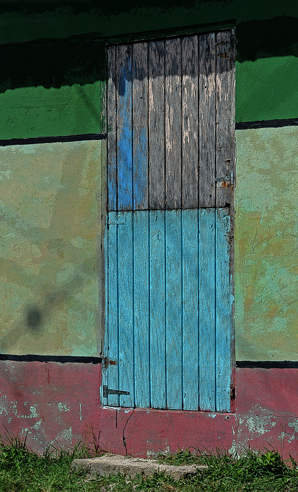 St Vincent and the Grenadines Colourful Door, Mayreau