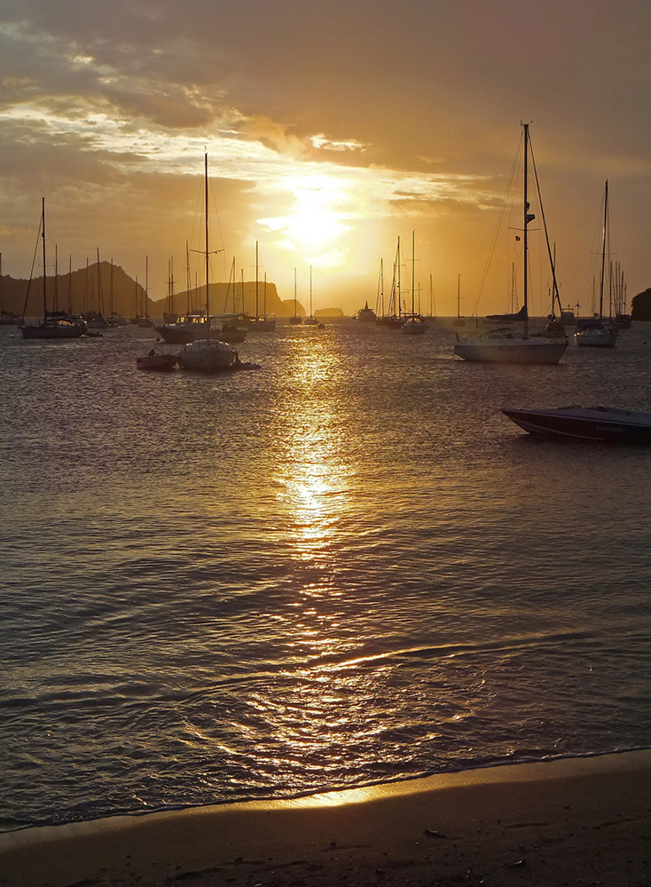 St Vincent and the Grenadines Sunset over Admiralty Bay, Port Elizabeth, Bequia