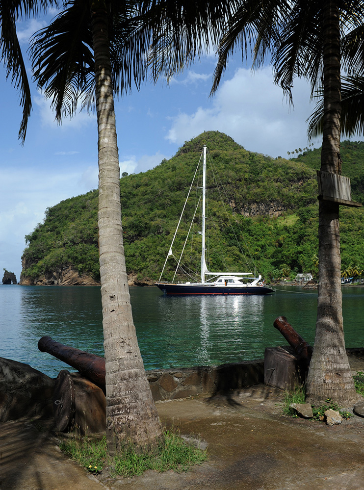 St Vincent and the Grenadines Yacht in Wallilabou Bay