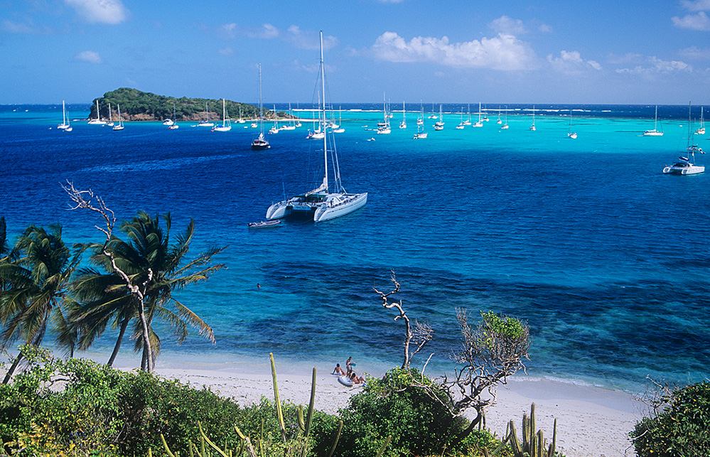 St Vincent and the Grenadines Yachts at Tobago Cays