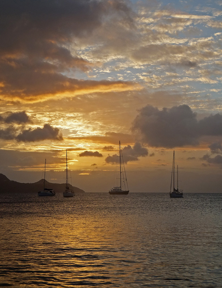 St Vincent and the Grenadines Yachts in Sunset, Saline Bay, Mayreau 2