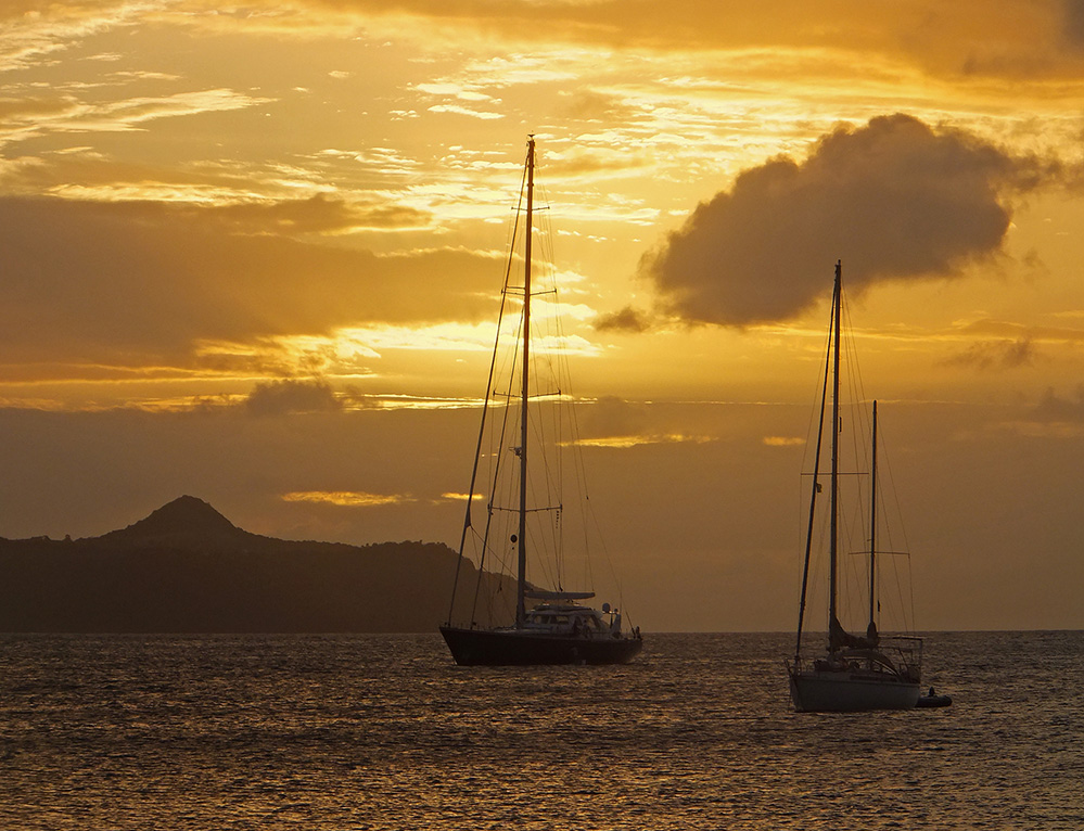 St Vincent and the Grenadines Yachts in Sunset, Saline Bay, Mayreau 3
