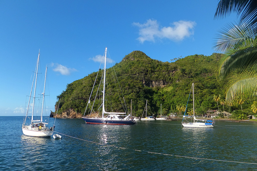 St Vincent and the Grenadines Yachts in Wallilabou Bay 1