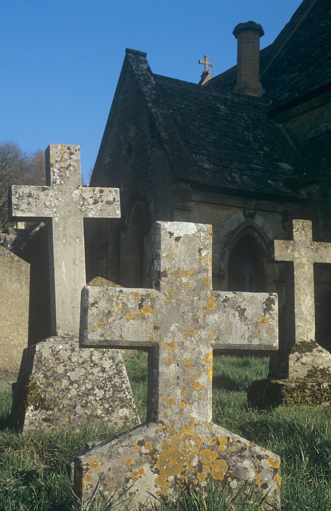 Crosses at Snowshill Church