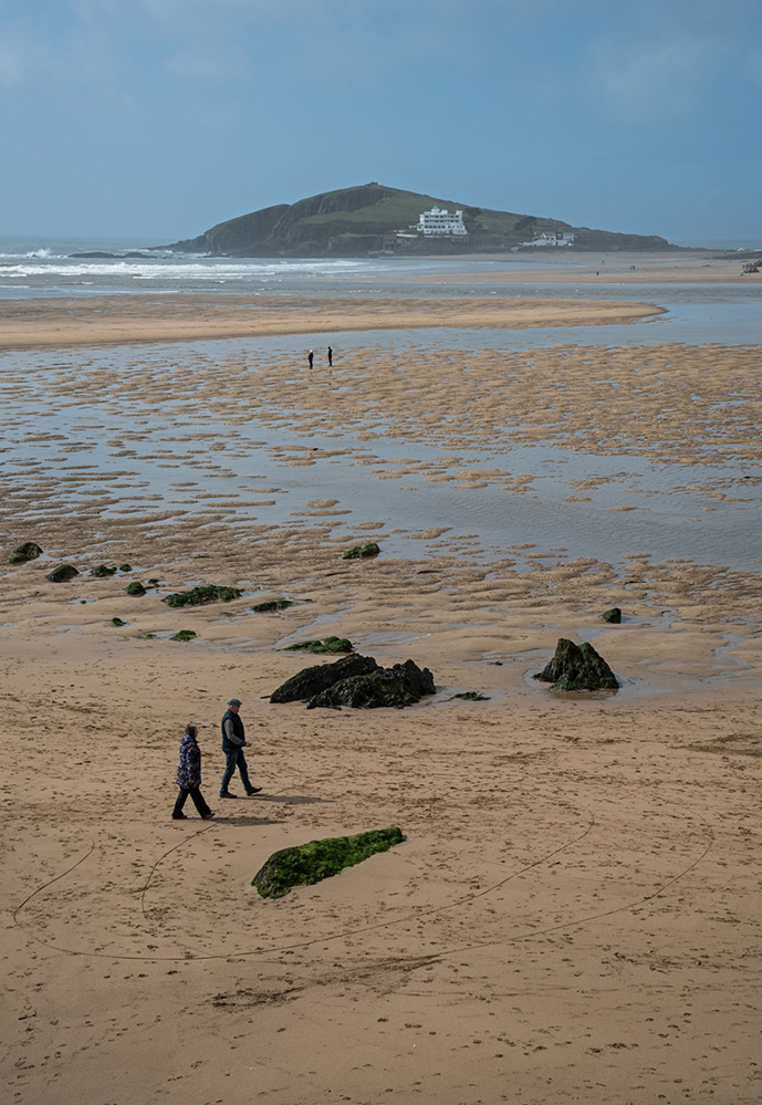 Burgh Island from Bantham Sands 1