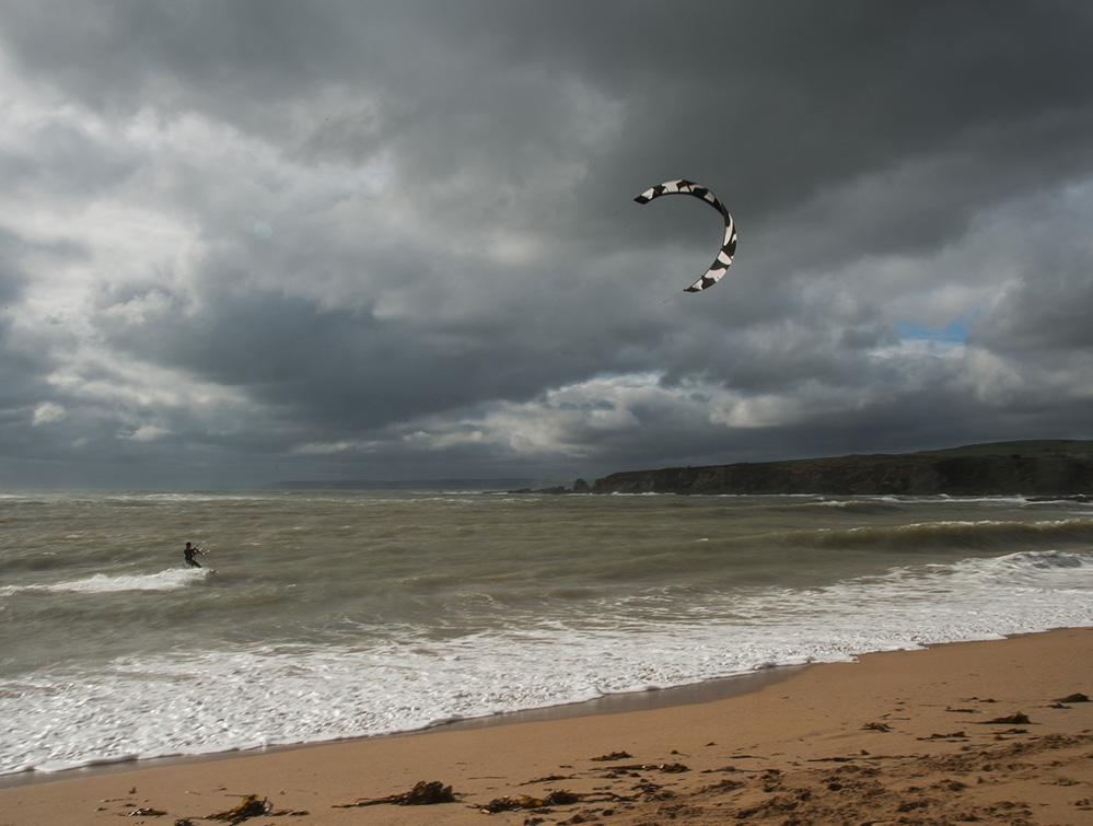 Paraglider at Thurlestone 2
