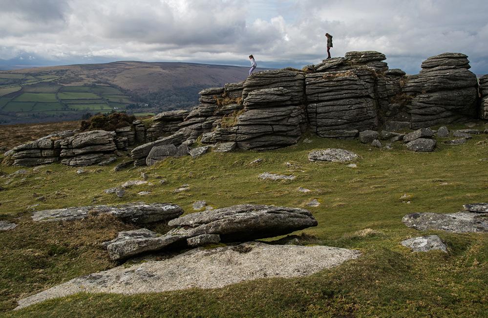 Standing on Pil Tor, Dartmoor