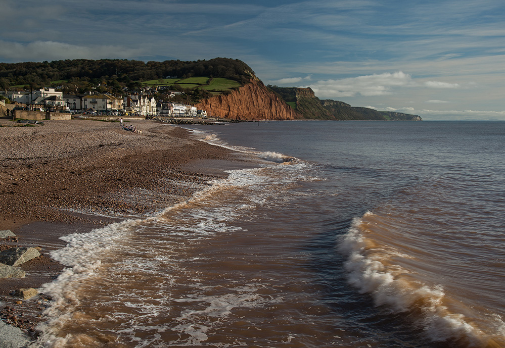 View East from the Beach, Sidmouth