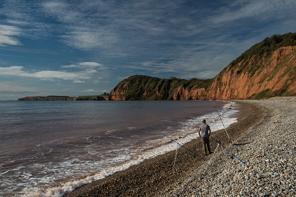 View West from the Beach, Sidmouth