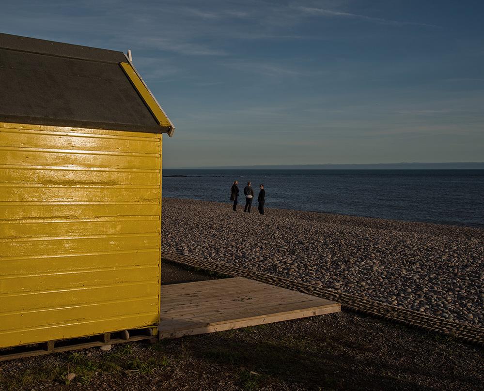 Yellow Beach Hut, Budleigh Salterton