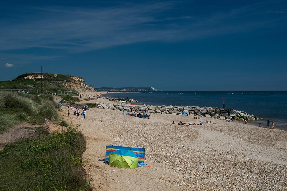 Hengistbury Head and Isle of Wight