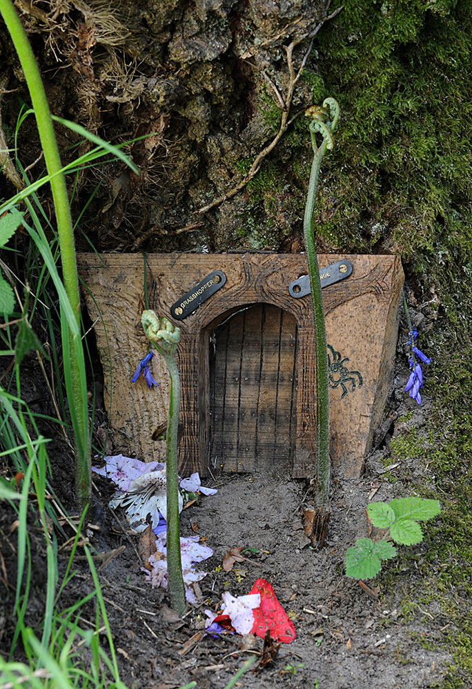 Furzey Gardens New Forest Fairy Door 'Grasshopper Grange'
