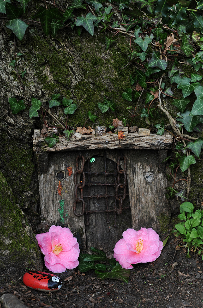 Furzey Gardens New Forest Fairy Door 'Ivy Castle'