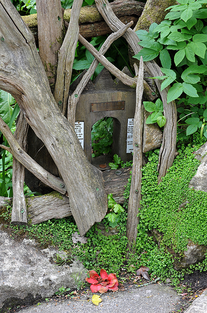 Furzey Gardens New Forest Fairy Door 'The Furzey Fairies Ferry Company'