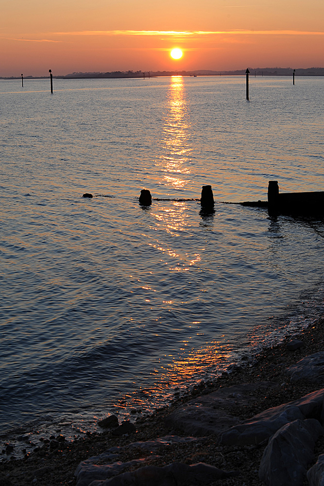 Sunset on the Solent, Lepe