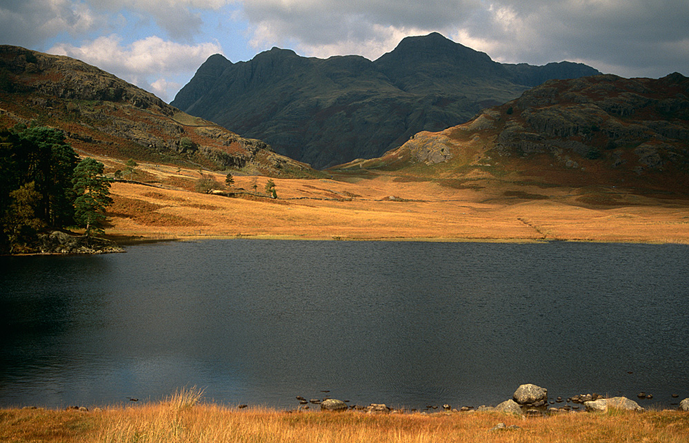 Blea Tarn and Langdale Pikes