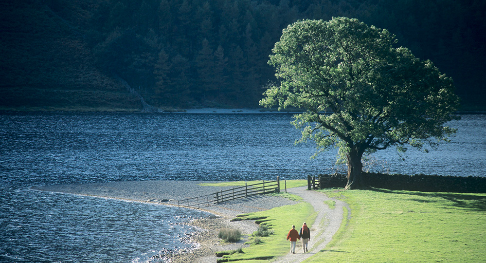 Walking by Buttermere Shore, Lake District