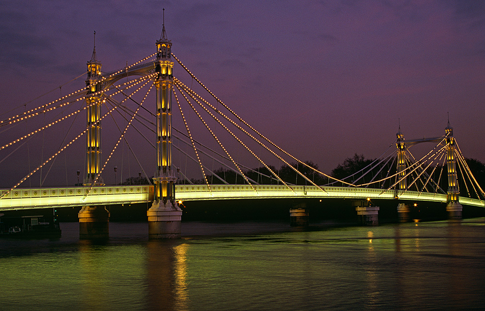 Albert Bridge at Dusk