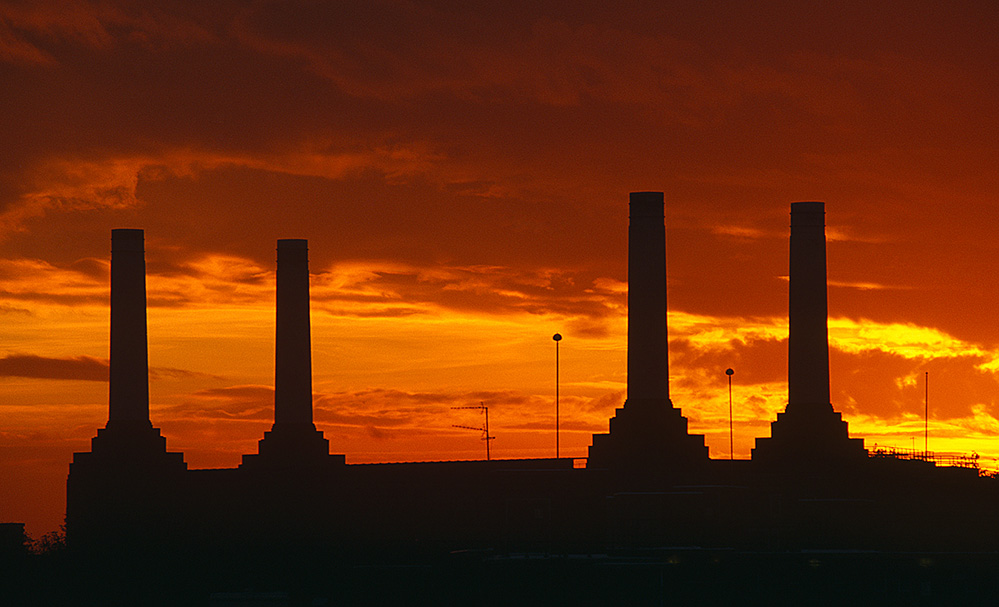 Battersea Power Station at Sunset