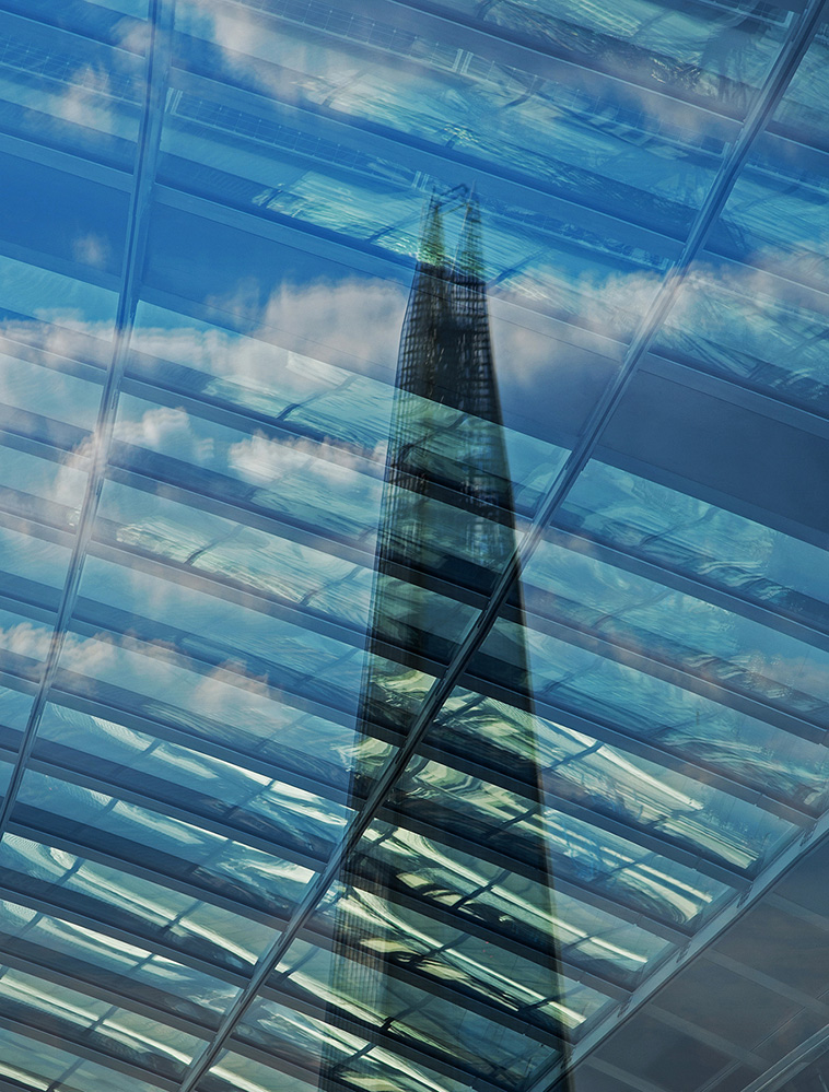 The Shard, Reflection in the Heron Tower Roof