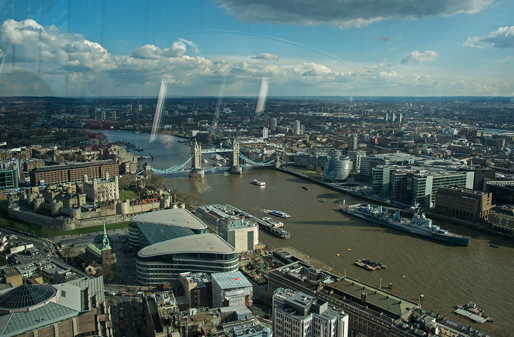 View to Tower Bridge from the Heron Tower