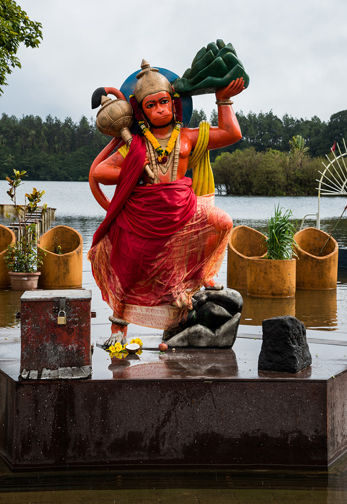 Hindu Hanuman Ji God, Grand Bassin