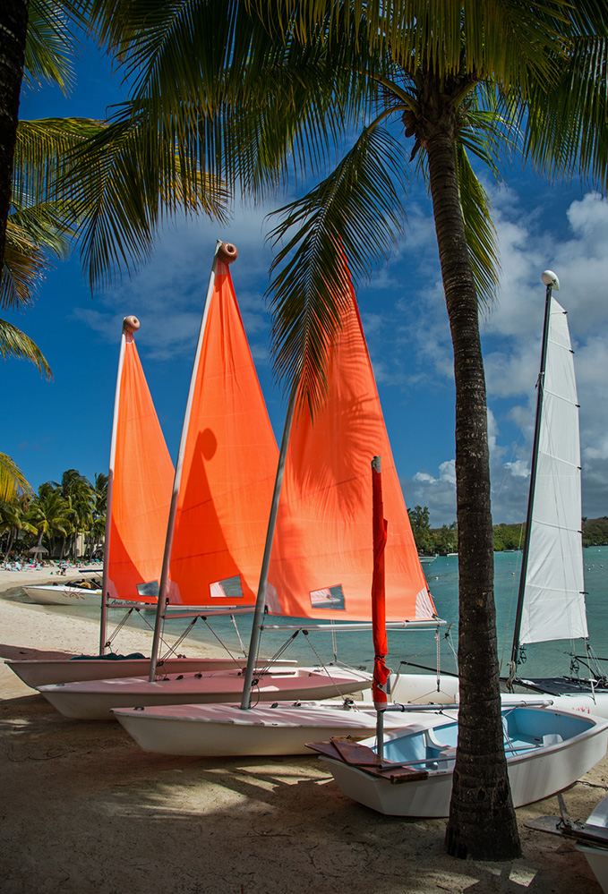 Three Orange Sails 1