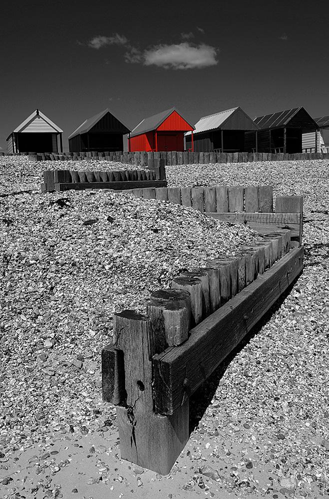 Beach Huts, Calshot Spit, Hampshire
