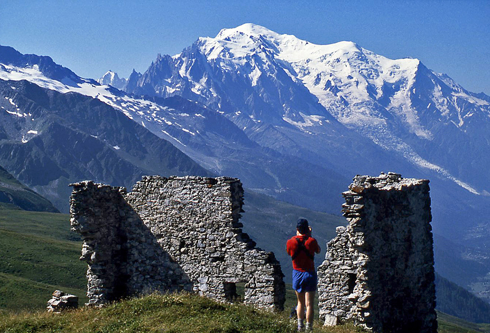 Mont Blanc from the Col de Balme, French Alps