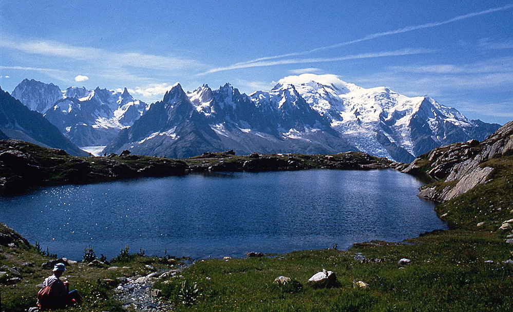 The Mont Blanc Massif, French Alps