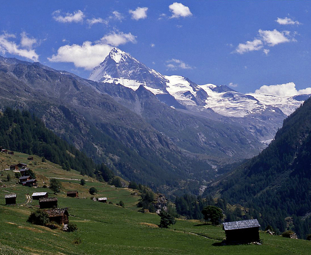 View towards Dent Blanche, Swiss Alps