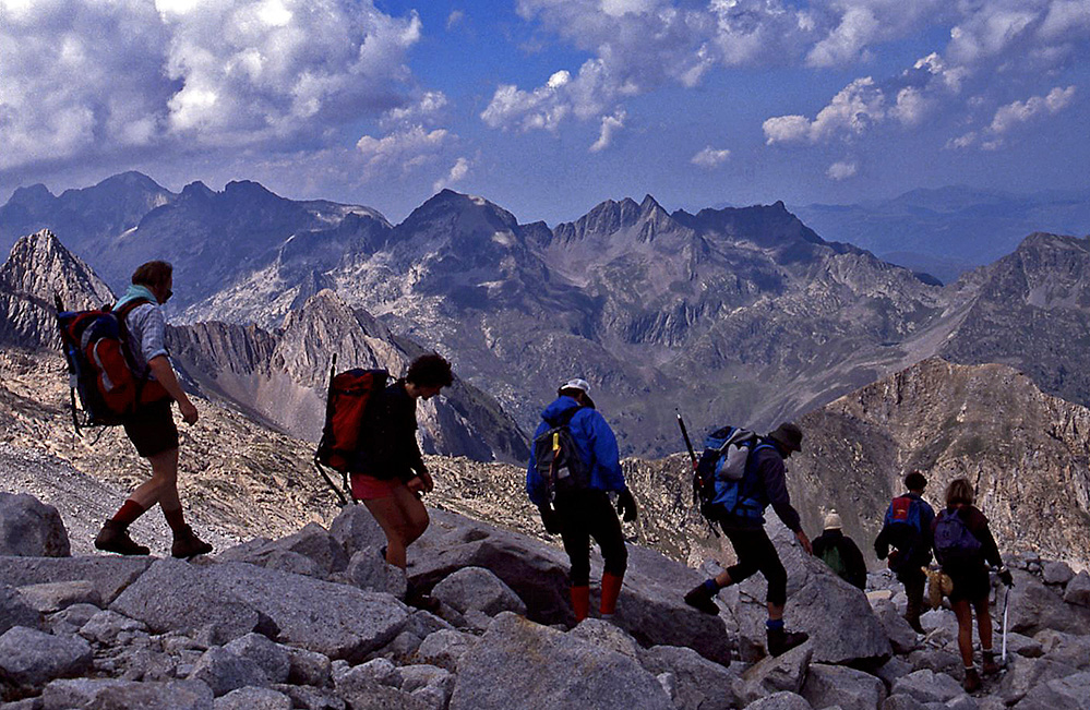 Walkers in the Spanish Pyrenees