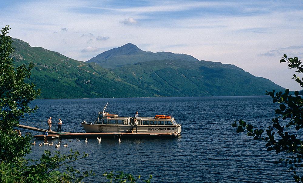 Ben Lomond and Cruise Boat on Loch Lomond