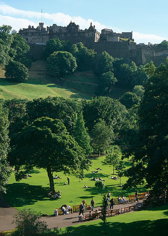 Edinburgh Castle and Princess Street Gardens