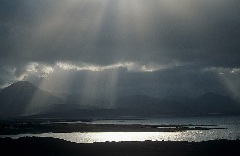 Sun Rays over the Cuillins, Isle of Skye