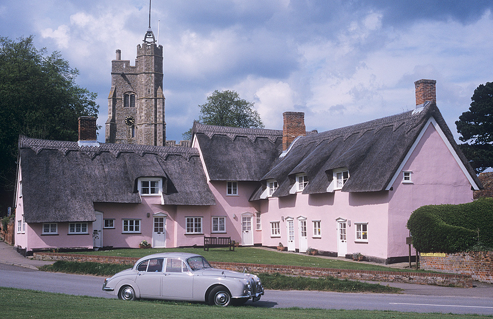 Hyde Park Corner Cottages and Church Tower, Cavendish