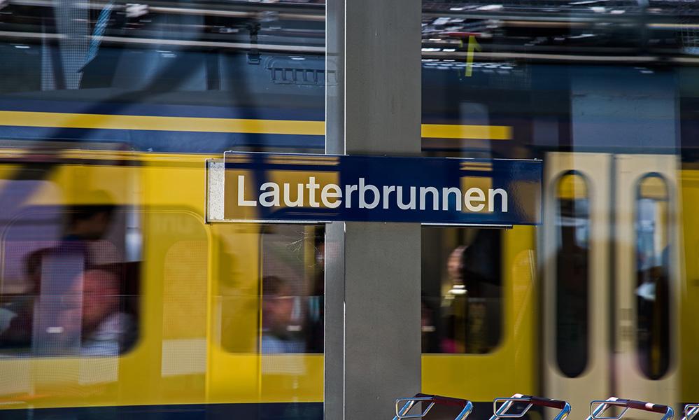 At Lauterbrunnen Station