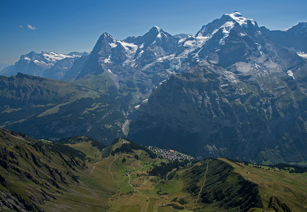 Eiger, Monch and Jungfrau from Birg