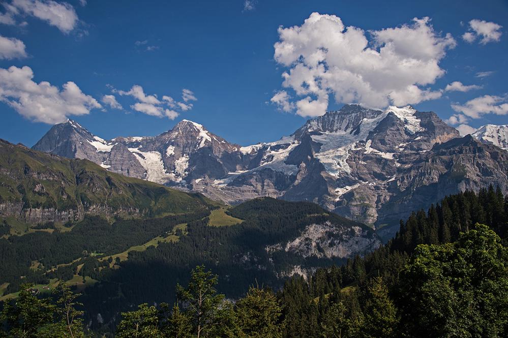 Eiger, Monch and Jungfrau from Grutschalp