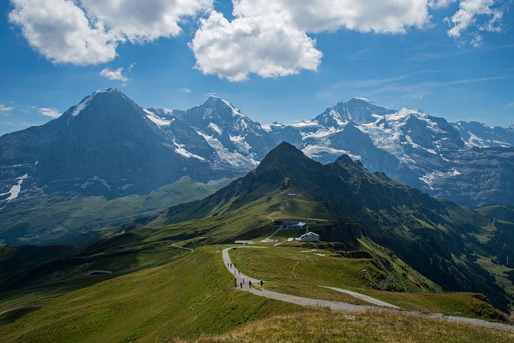Eiger, Monch and Jungfrau from Mannlichen