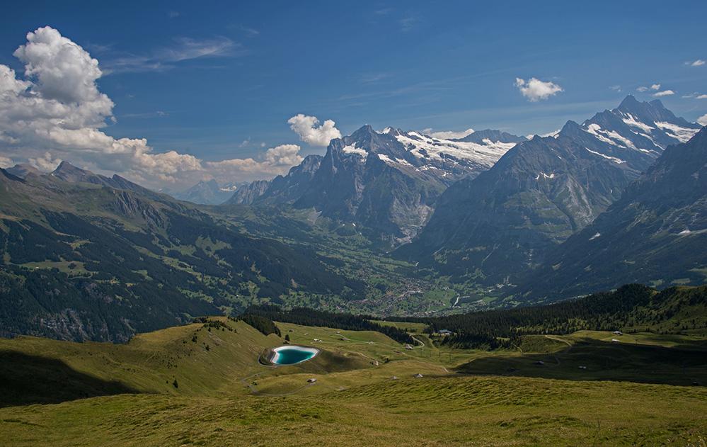 Grindelwald and Wetterhorn from Mannlichen