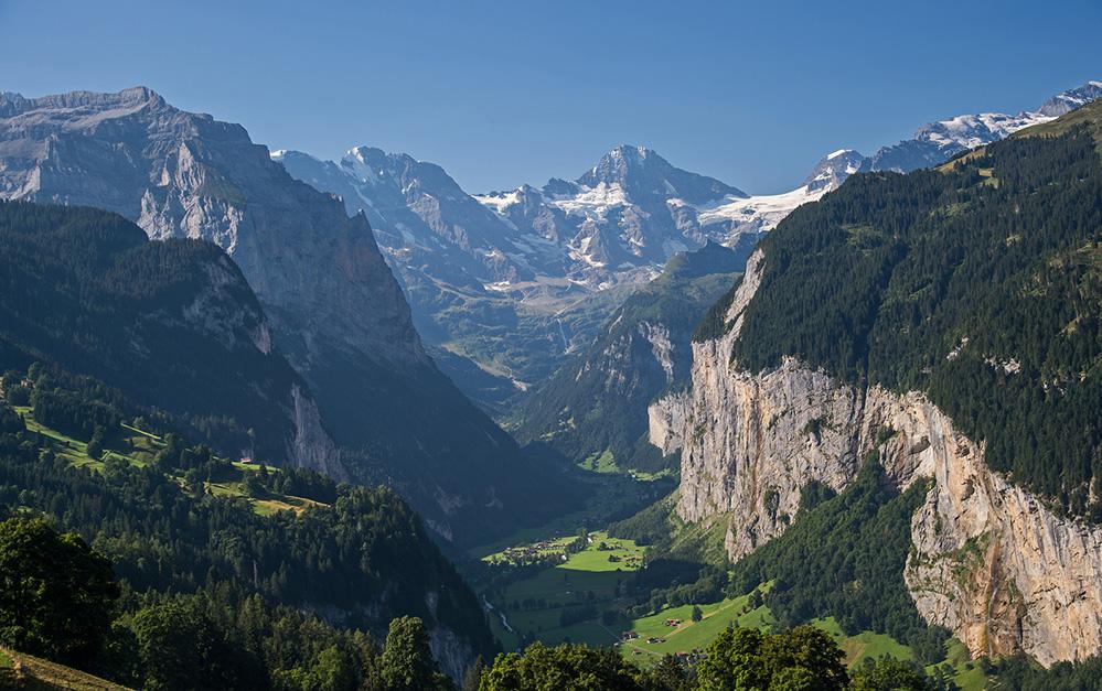Lauterbrunnen Valley from Wengen