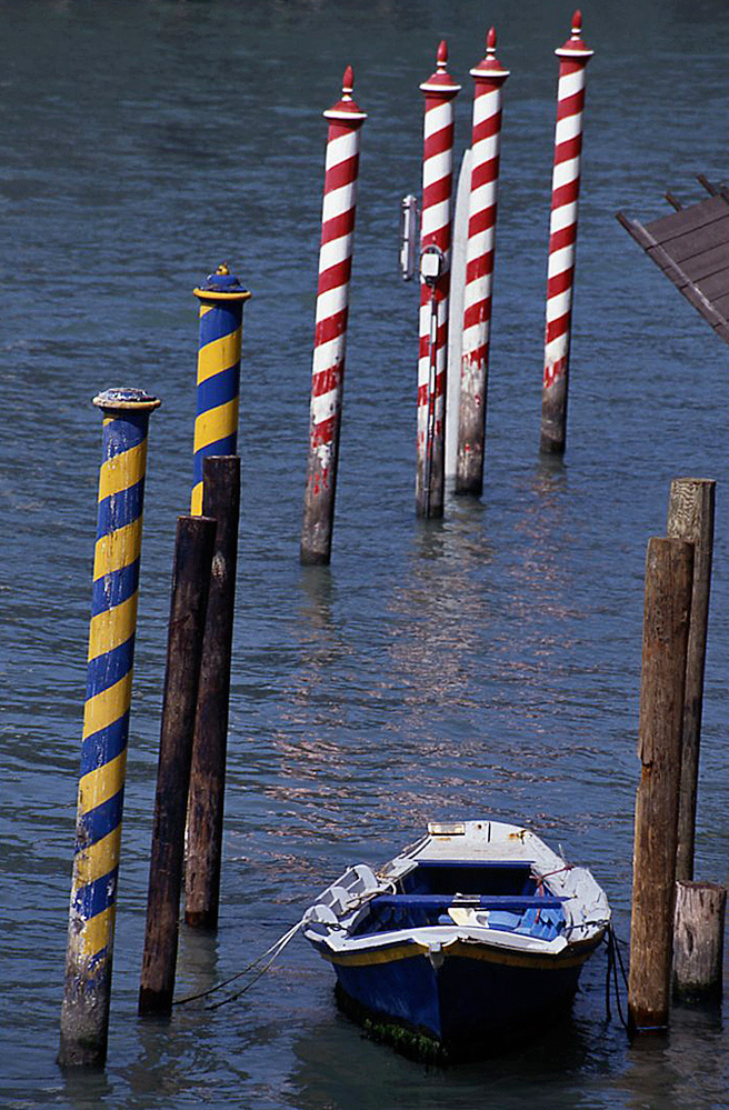 Boat and Mooring Posts on the Grand Canal