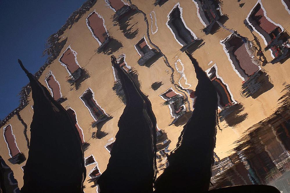Gondola Reflections in Bacino Orseolo, San Marco