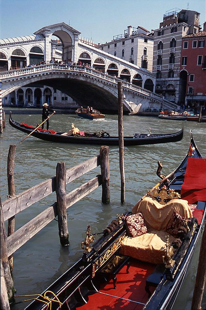 Rialto Bridge and Gondolas