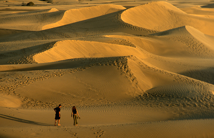 Spain Dune Couple Maspalomas Gran Canaria